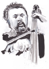 Mingus - 9x12 pen and ink